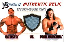 WWE Batista & Paul Burchill Heritage IV 4 2008 Relic Event Used Mat Card