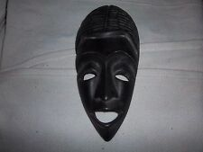 Carved Wood African Mask Tribal Wall Art