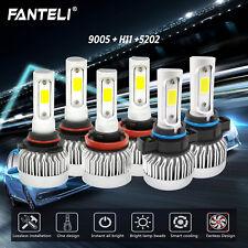 H11 9005 LED Headlight+5202 Fog Light Sets for Chevy Silverado 1500 2500 07-15