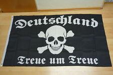 Fahne Flagge Deutsches Reich Treue um Treue Totenkopf - 90 x 150 cm