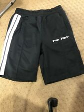 Palm Angels Black men and women breathable white strip shorts Size M-NEW!!!