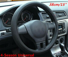 Universal Fashion Sporty Black PU leather Car Soft Steering Wheel Cover 38cm/15""