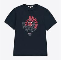 BRUTUS Logo T-Shirt/Navy - Extra Large NEW STYLE!