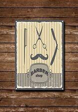 Barber Shop Letrero, Letrero Metal, LETREROS,estilo antiguo,Barberos 716
