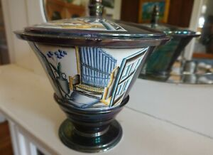 Guido Andlovitz, Lavenia, Lidded urn, Laveno, S. C. I. Italy. Ceramics