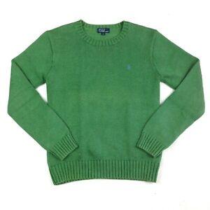 Kids Polo by Ralph Lauren Knitted Jumper Sweatshirt - Size L - Green