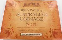 .2010 100 YEARS AUSTRALIAN COINAGE 4 UNC COIN SET. C B M S
