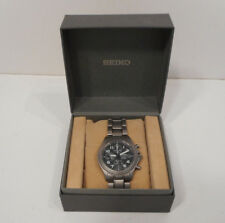 Seiko 7T62-0BZ0 Titanium Alarm Chronograph 200m Men's Watch Original Box