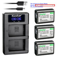 Kastar LCD Dual Charger Battery for Original Sony NP-FW50 & OEM Sony BC-TRW