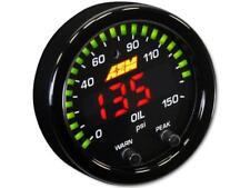 AEM X-Series Manómetro de aceite 0 ~ 150psi/0 ~ 10bar ( Bisel Negro / Placa )