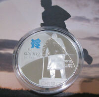 2010 £5 Five Pound SILVER PROOF London 2012 Olympic CHURCHILL SPIRIT SERIES