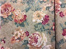 "Floral Print Fabric Yardage 11 1/2 YDS. x 48"" W Springs Rock Hill SC"