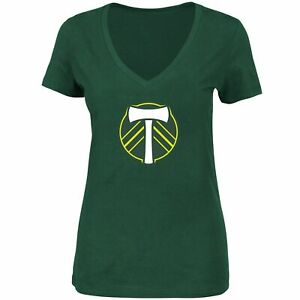 Portland Timbers Majestic Women's Plus Size Primary V-Neck T-Shirt - Green