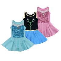 Kids Girls Gymnastic Leotard Ballet Dance Tutu Dress Unitards Dancewear Costume