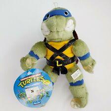 Vintage TMNT LEO 1989 9″ Suction Cups Plush Teenage Mutant Ninja Turtles