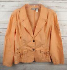 Chicos Jacket Size 3 Light Coral XL Lightweight Cotton