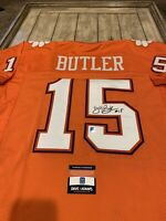 Jerry Butler Autographed/Signed Jersey COA Clemson Tigers