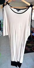 Robe pull MILLENIUM moulante bige et noire taille 36/38