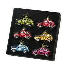 Christmas Decoration Colourful Glass Beetle Car Ornament Box Set Heaven Sends