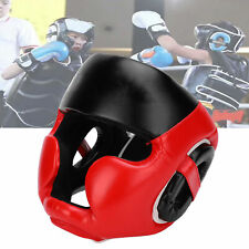 1X Kid Face Protection Boxing Helmet Head Protective Gear for Taekwondo M Red