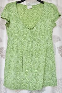 NEXT MATERNITY LADIES GREEN TOP SIZE 16