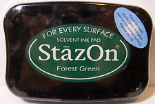 Stazon Forest Green Ink Pad Stamp Metal, Shrink Plastic, Acrylic, Wood & more