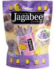 Snack Foods Hong Kong Calbee Jagabee Purple Potato Stick Tasty 17g x 5 Pack