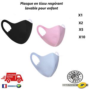 Masque Tissu Protection Enfant 6/11ans lavable Réutilisable Laisse respirer Neuf
