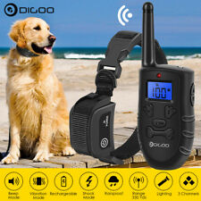 Digoo LCD Electric Dog Shock Bark Collar Remote Training Trainer Waterproof 300M
