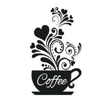 EG_ Coffee Cup Decal Wall Decoration Removable Home Kitchen Art Mural Sticker Be