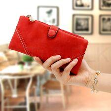 Portafogli e borsellini da donna in pelle rossa con organizer