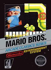 Nintendo Nes Super Mario Bros Arcade Classic  Box Cover Fridge Magnet Game Decor