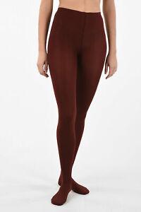 ALAIA women  Size 40 IT Red 100 Den Stretch VELOUTINE Stocking Collants  40 (...
