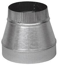 """Imperial 5"""" Dia. x 4"""" Dia. Galvanized Steel Stove Pipe Increaser 24 Gauge GV1416"""