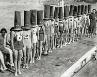 Vintage 1936 FACELESS BATHING SUIT BEAUTY CONTEST Photo - Swimsuits Bizarre Odd