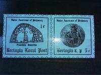 RRR PAIR SET BERINGIA ANTARCTICA 2+5 CENTS NATIVE OF AMERICA PRE-HISTORY Stamp