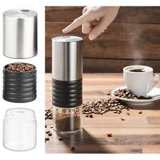 Espressomühle: Elektrische Akku-Kaffeemühle mit Keramik-Mahlwerk, USB Ladebuchse
