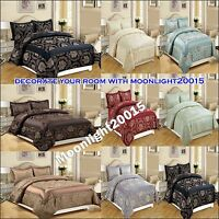 Bedspread LUXURY 3pcs & 7pcs (piece) Jacqu Quilted Comforter Set and Bed Spread