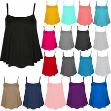 Women's Sleeveless Strappy, Spaghetti Strap Casual Semi Fitted Tops & Shirts