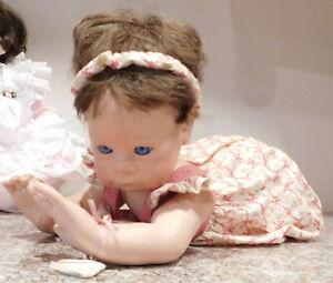 """Vintage Signed & Numbered Crawling 19"""" Baby Girl Doll  by Julie Good Kruger"""