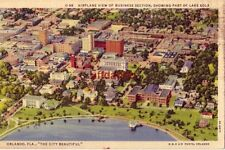 AIRPLANE VIEW OF BUSINESS SECTION ORLANDO, FL N-M-D AIR PHOTO 1938