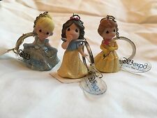 New D23 Expo Exclusive Precious Moments Disney Princesses Keychain Set