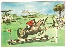 Cartolina Illustrata XVII Olimpiade Roma 1960 - Equitazione