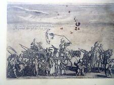 """CALLOT JACQUES, acquaforte XVII secolo """"PROCESSIONE DI ZINGARI"""""""