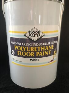 FLOOR MASTER GARAGE/WORKSHOP FLOOR PAINT 5LT WHITE Used By the Professionals.