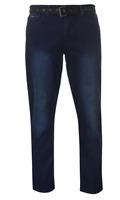 Pierre Cardin Web Belt Mens Jeans Vintage Dark Size 38S *REF95*