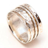 Solid 925 Sterling Silver Spinner Ring Meditation Ring Statement Ring Size sr262