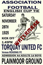 TORQUAY UNITED - VINTAGE 1920's STYLE MATCH POSTER