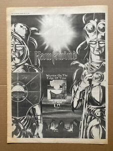 HAWKWIND WARRIOR ON THE EDGE OF TIME POSTER SIZED original music press advert fr