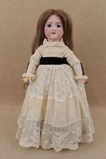 "16"" antique bisque head composition German Armand Marseille Doll w Human Hair"